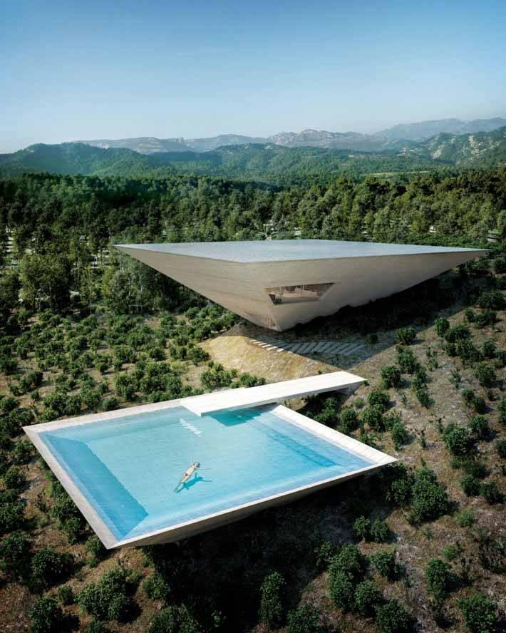 Casa é uma pirâmide invertida e você não imagina o motivo; saiba o porquê. Foto: Divulgação