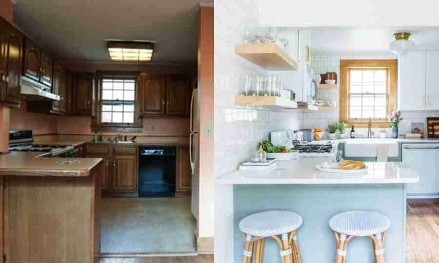 Antes e depois: essa cozinha superantiga tinha uma só coisa que valia a pena manter