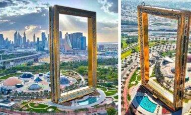 O maior e mais surreal porta-retrato do mundo é inaugurado em Dubai
