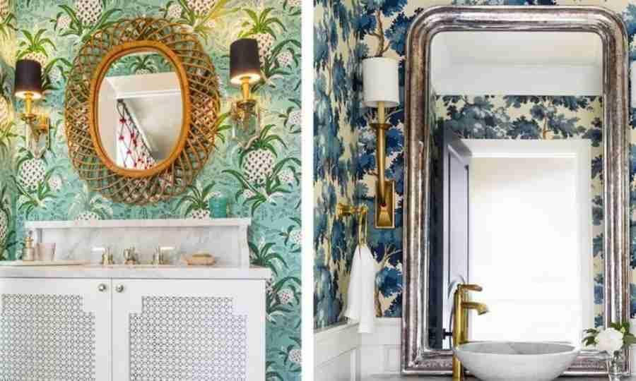 Papel de parede: 10 ideias para deixar seu banheiro cheio de cor e poder