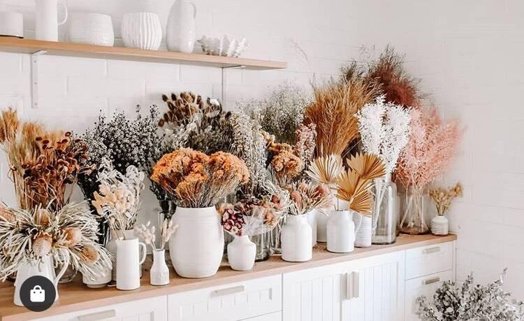 Flores secas, tendência de design de interiores