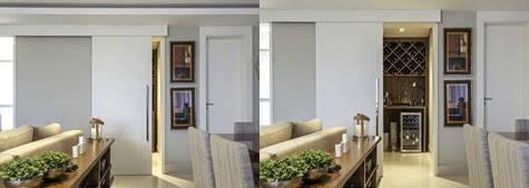 Portas de correr: ideias para economizar espaço em sua casa