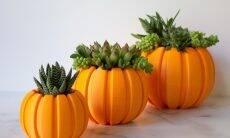 Esses vasos de abóbora impressos em 3D deixarão suas suculentas prontas para o Halloween