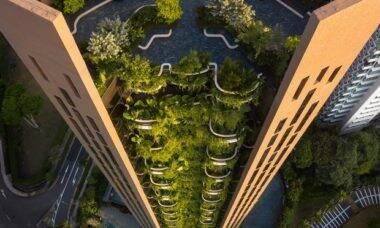 Novo arranha-céu em Singapura explora paisagismo nas varandas