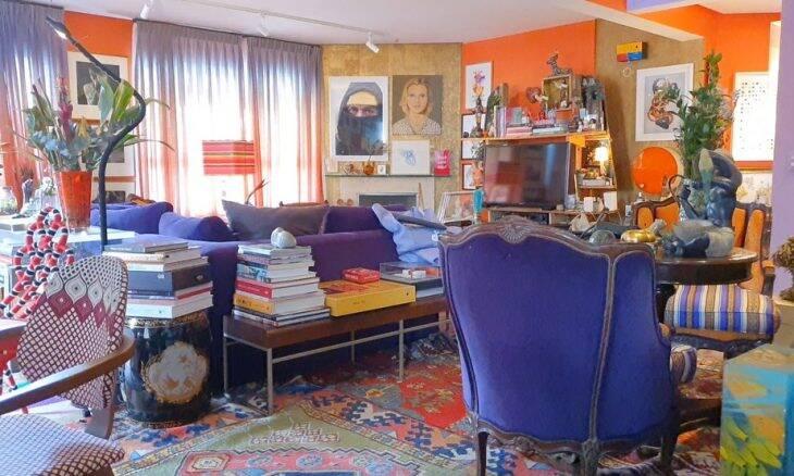 Por dentro do apartamento supercolorido de Astrid Fontenelle. Imagem: Reprodução/GNT