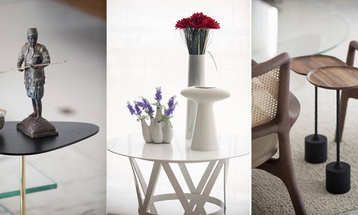 Como usar mesas laterais e de apoio na decoração da sua casa