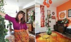 Ela levou cinco anos para reformar sua casa em homenagem aos anos 70; veja
