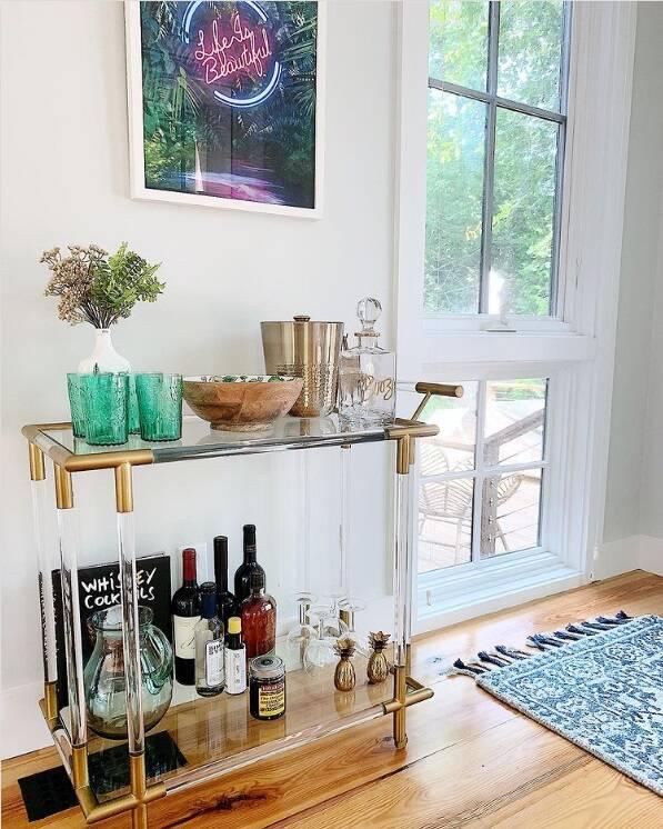 Itens de decoração vinhos