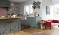 Antes e depois: papel de parede de cozinha