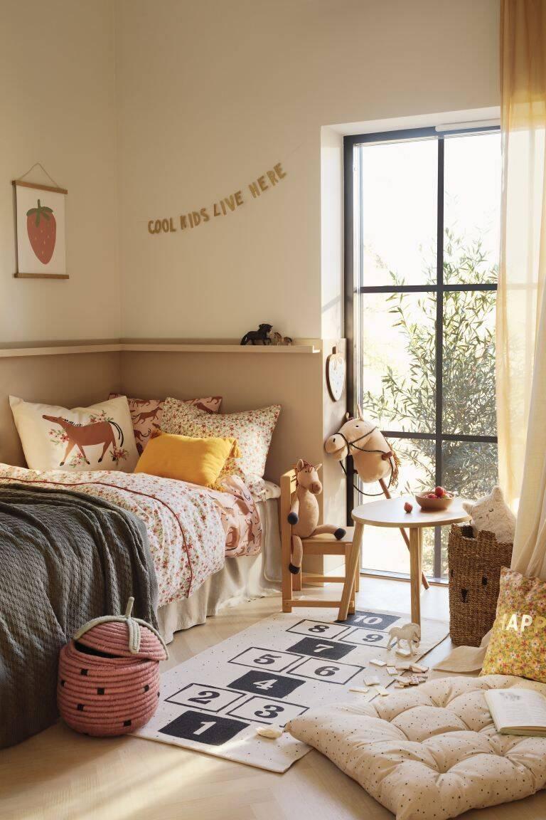 Ideia de decoração de quarto infantil feminino