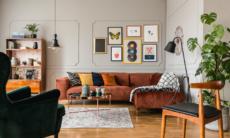 Sala vintage escandinava