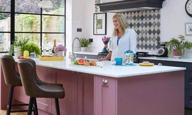 Cozinha industrial rosa
