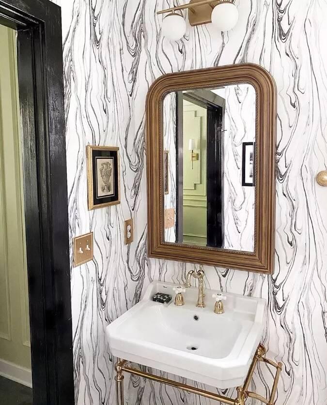 Banheiro chique: papel de parede