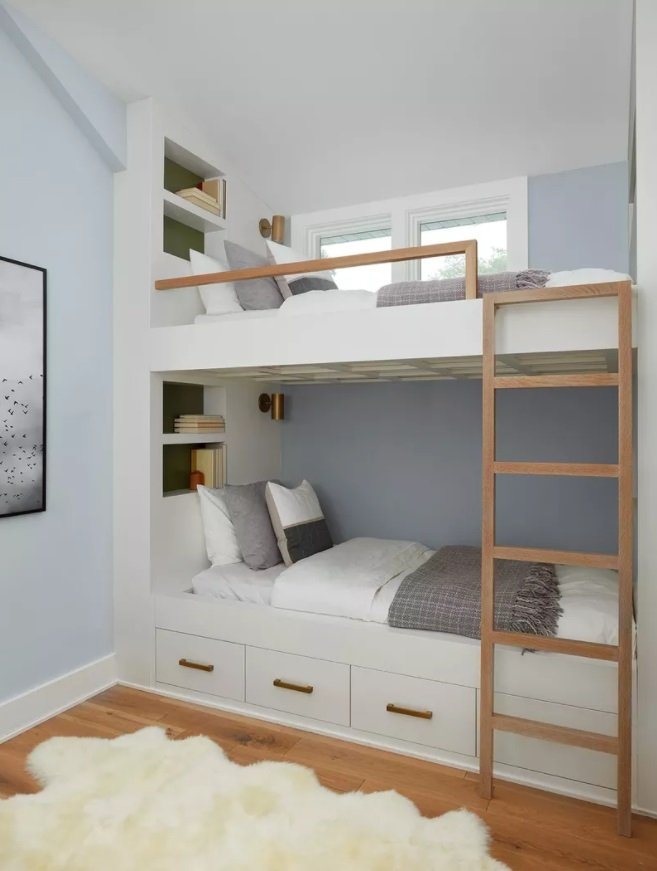 Quarto com beliche: móveis planejados
