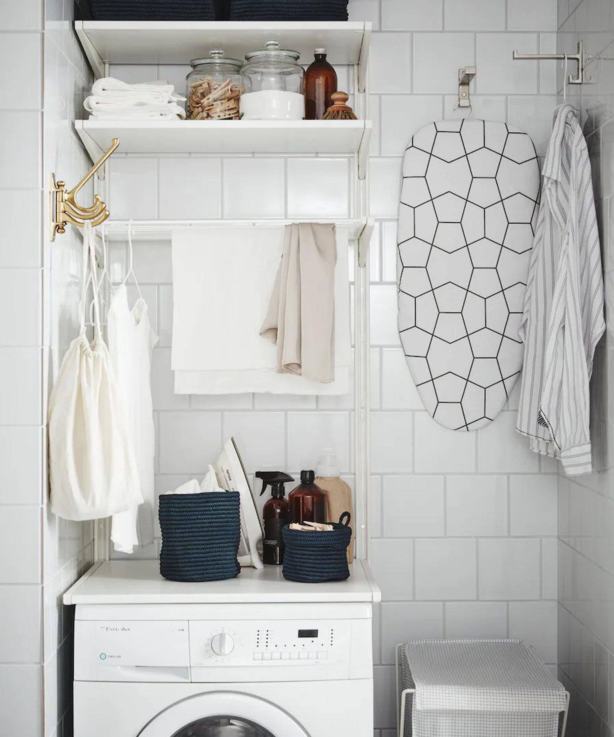 Lavanderia pequena: utilize qualquer espaço