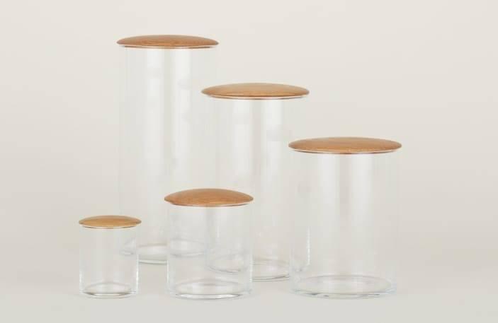 Casa sustentável: potes de vidro