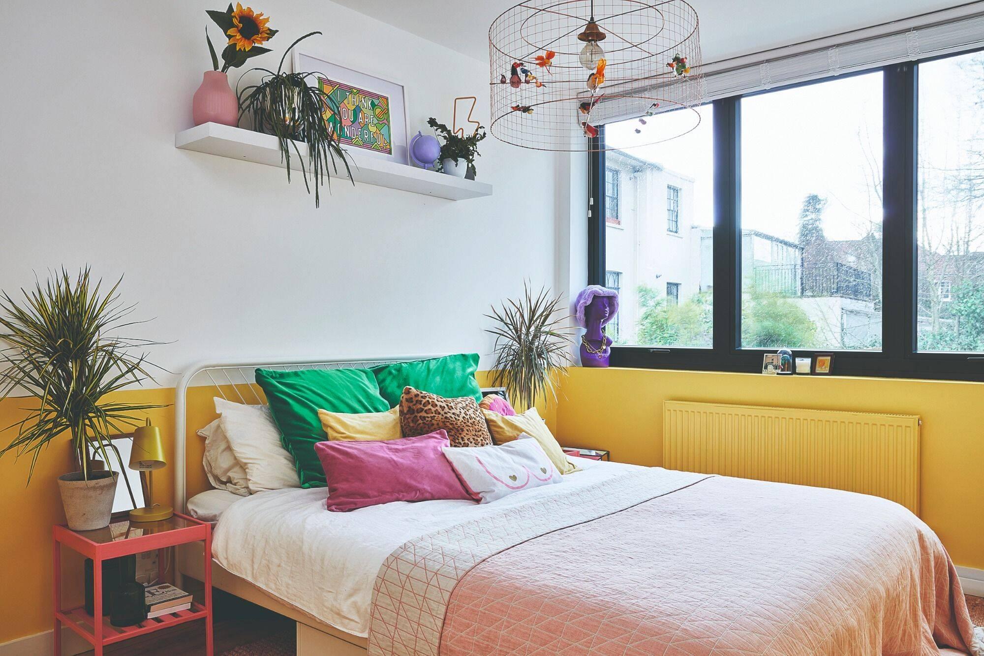 Depois: quarto amarelo