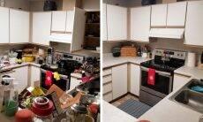Antes e depois da organização. Fotos: Reprodução/Reddit