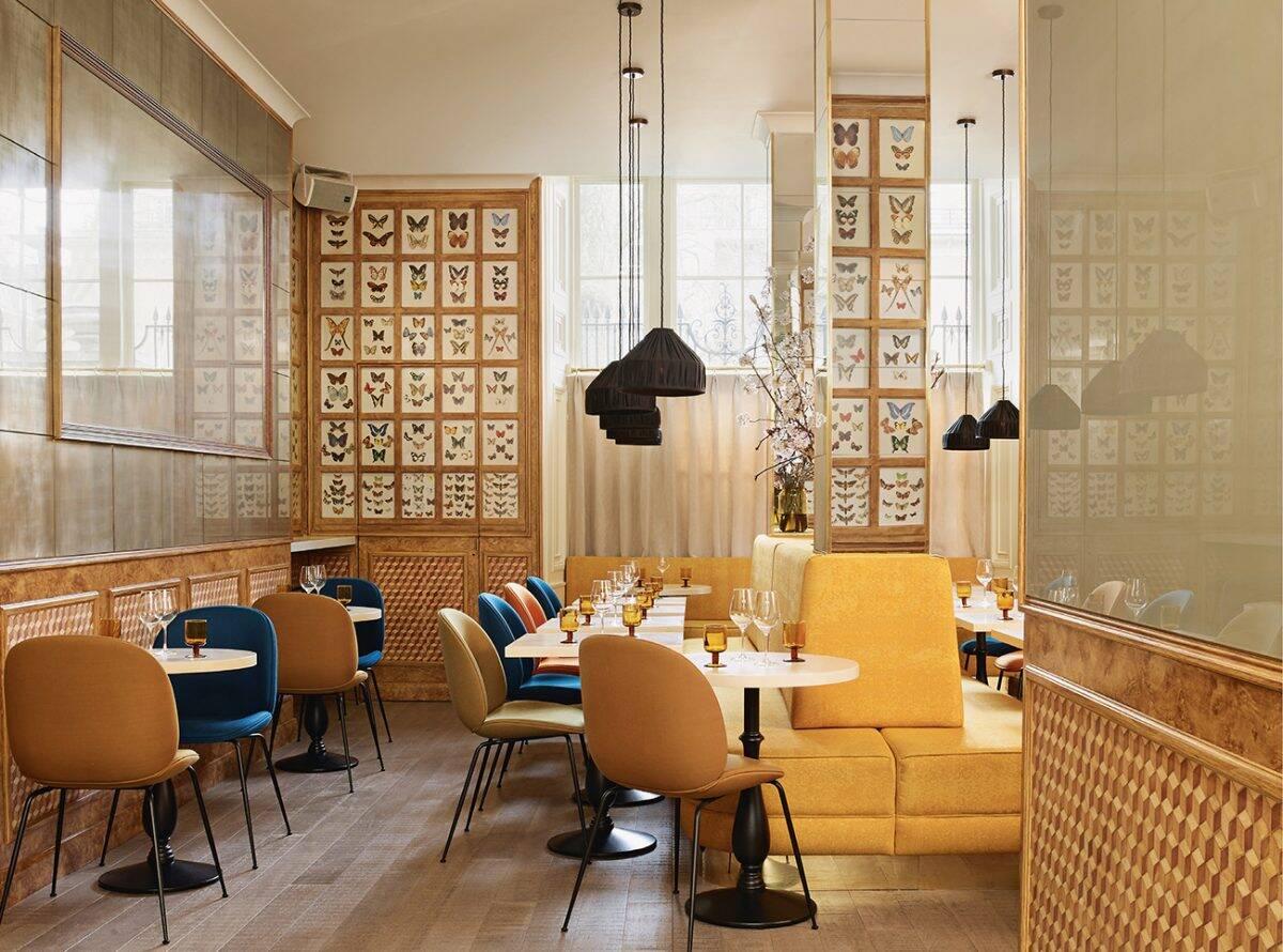Chess Club, Mayfair in Londres por Fran Hickman Design & Interiors. Foto: Annabel Elston, Divulgação de Fran Hickman Design & Interiors