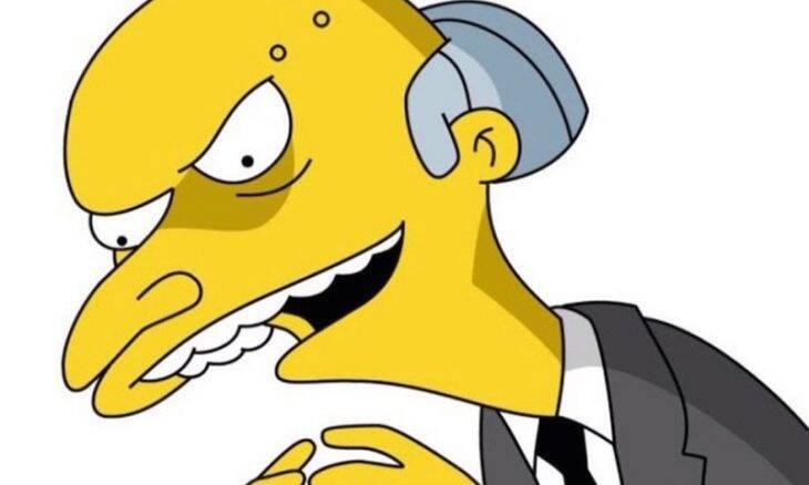 """Sr. Burns """"Os Simpsons"""". Imagem: Divulgação/Century Fox Television"""