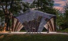 Pavilhão feito de linho em universidade alemã. Fotos:CD/ITKE/IntCDC University of Stuttgart