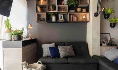 Apartamento de 34m² repleto de soluções em iluminação da Yamamura | Projeto de Andrade & Mello Arquitetura e fotos de Emerson Rodrigues