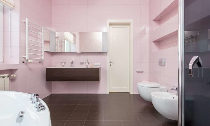 Banheiro rosa. Foto: Max Vakhtbovych