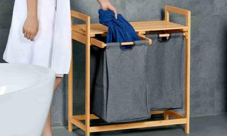 Cesto de roupa de bambu. Fotos: Divulgação/ToiletTree