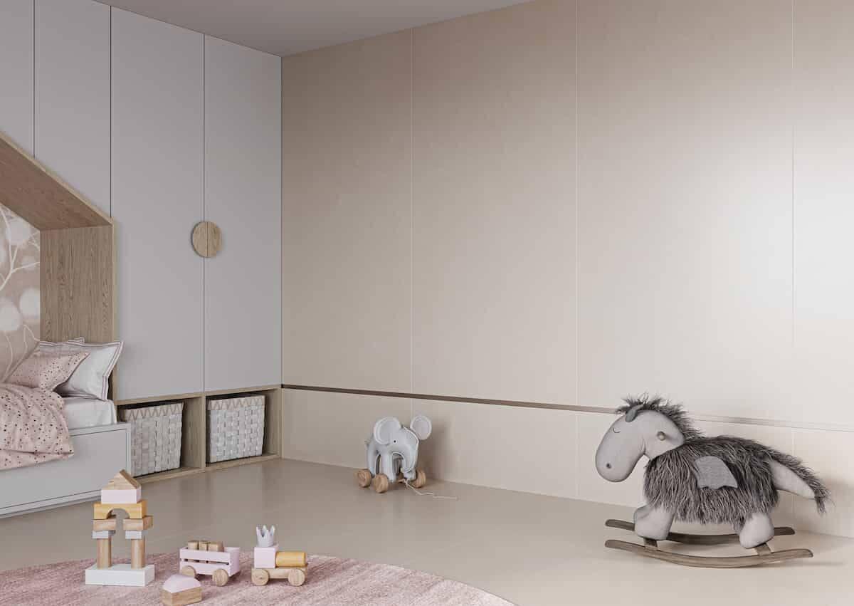 Piso ideial para o quarto dos pequenos. Foto: Divulgação/ Incepa