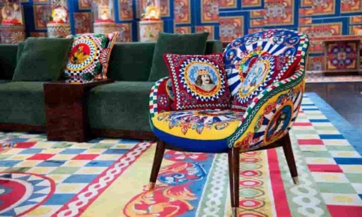 Nova coleção de móveis Dolce & Gabbana homenageia artesanato italiano. Fotos: Divulgação/ Dolce & Gabbana
