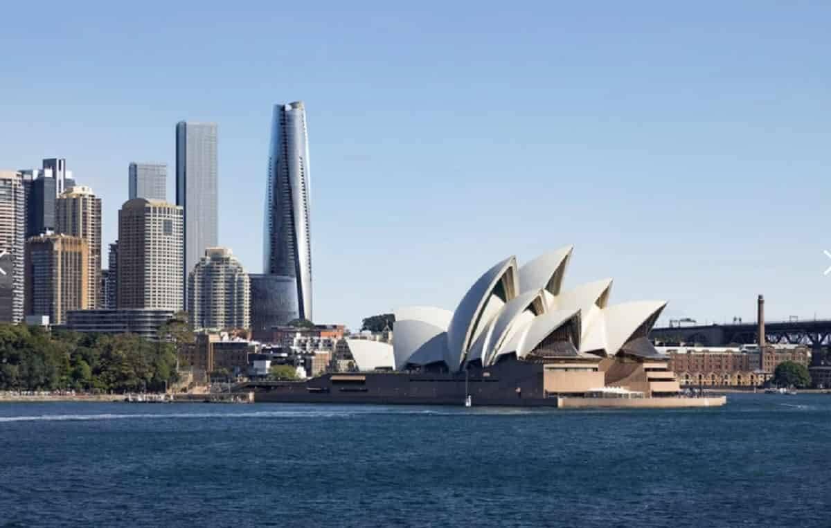 One Barangaroo, em Sidney, na Austrália, ficou em primeiro lugar no prêmio de melhor arranha-céu do mundo. Foto: Divulgação/ Crown Residences Sidney