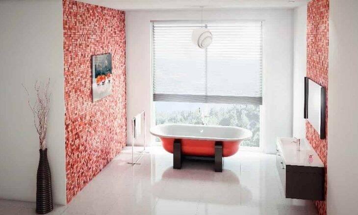 Banheira em freestanding, uma inspiração nas banheiras vitorianas. Foto: Divulgação/Celite